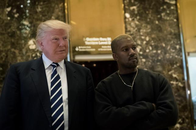 Donald Trump con Kanye West