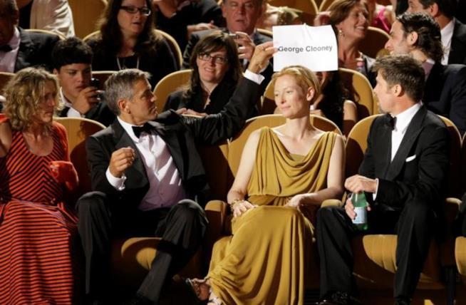 Tilda Swinton e George ClooneyAlla 64esima Mostra del cinema di Venezia