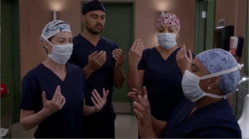 Meredith Grey, Callie Torres, Jackson Avery e Miranda Bailey