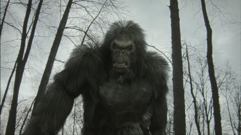 Un'immagine del Bigfoot nel film di Bruce Davison