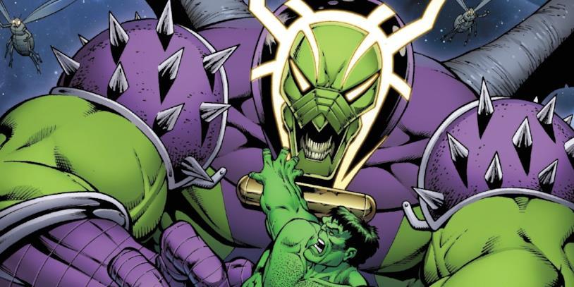 Il villain Annihilus in una tavola a fumetti