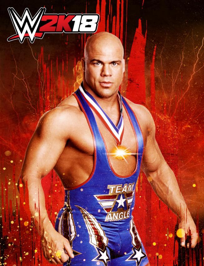 Kurt Angle nella card di presentazione di WWE 2K18