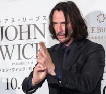 Keanu Reeves a un evento per John Wick in Giappone