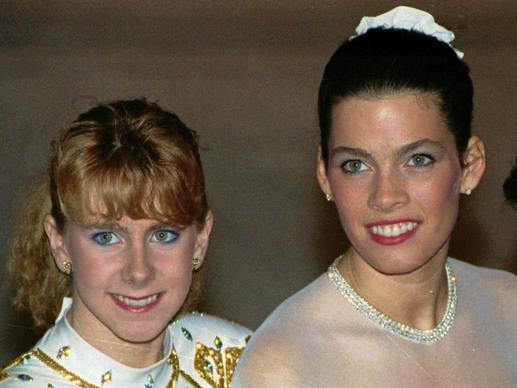 Tonya Harding insieme a Nancy Kerrigan