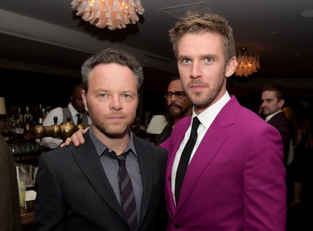 Dan Stevens con il regista Noah Hawley