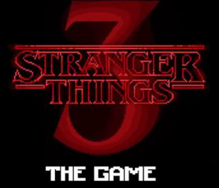 Il logo in 16 bit di Stranger Things 3 the Game