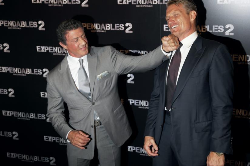 Sylvester Stallone e Dolph Lundgren ad una premiere