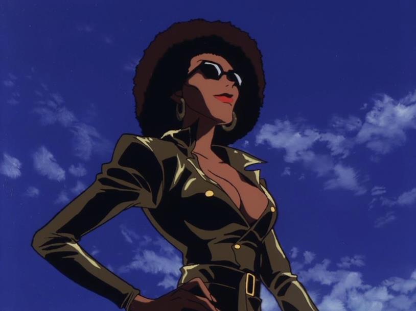 Una cacciatrice di taglie nel 17esimo episodio di Cowboy Bebop
