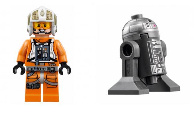 Le Minifigure di LEGO dedicate a Gold Leader e R2-BHD