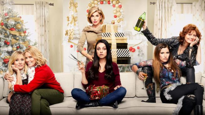 Christine Baranski, Susan Sarandon, Cheryl Hines assieme a Kristen Bell, Mila Kunis e Kathryn Han