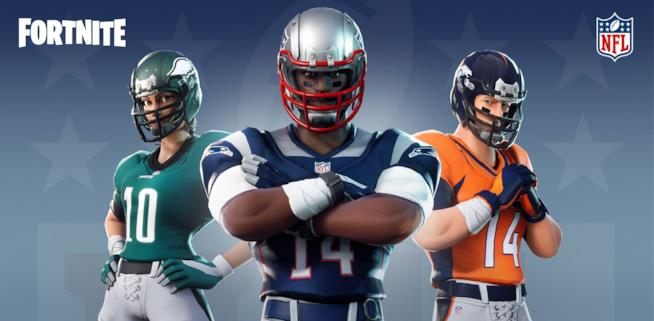 Immagine promozionale di Fortnite sui nuovi contenuti a tema NFL
