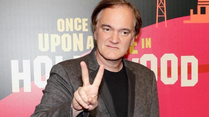 Quentin Tarantino alla presentazione del suo nuovo film Once Upon a Time in Hollywood