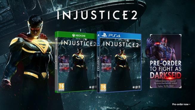 La cover di Injustice 2 e il bonus di preordine