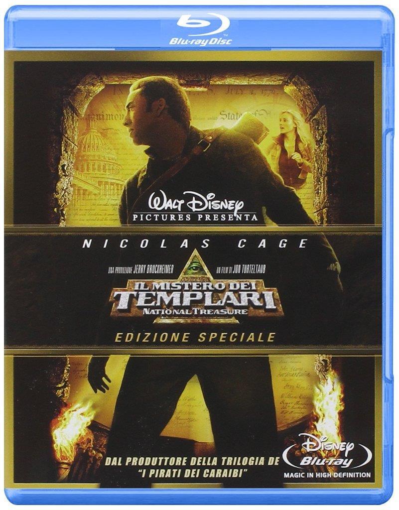 Nicolas Cage nella copertina del cofanetto Blu-ray de Il Mistero dei Templari
