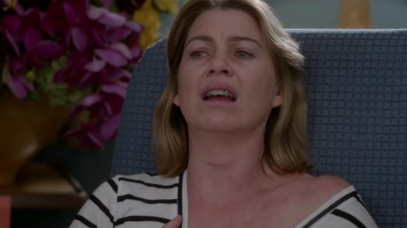 Meredith Grey non riesce a respirare