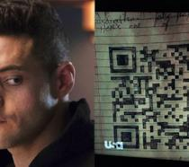 Rami Malek e un QR code