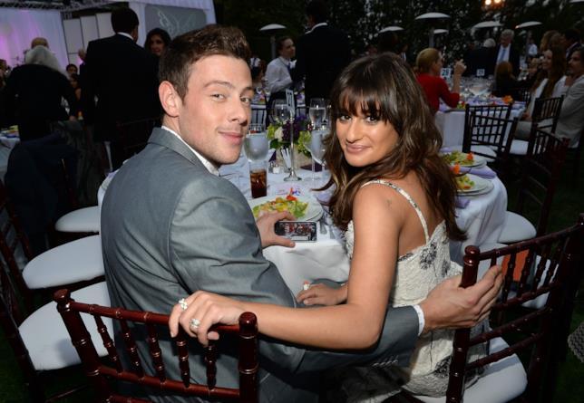 Lea Michele e l'ex fidanzato Cory Monteith