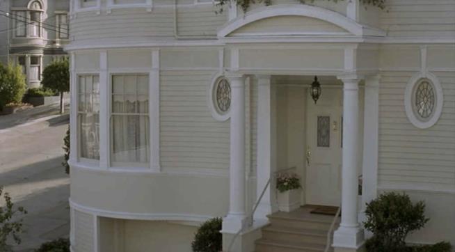 Una parte di facciata della casa di Mrs. Doubftire