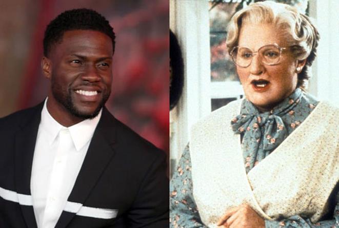 Kevin Hart e Robin Williams nel ruolo di Mrs. Doubtfire