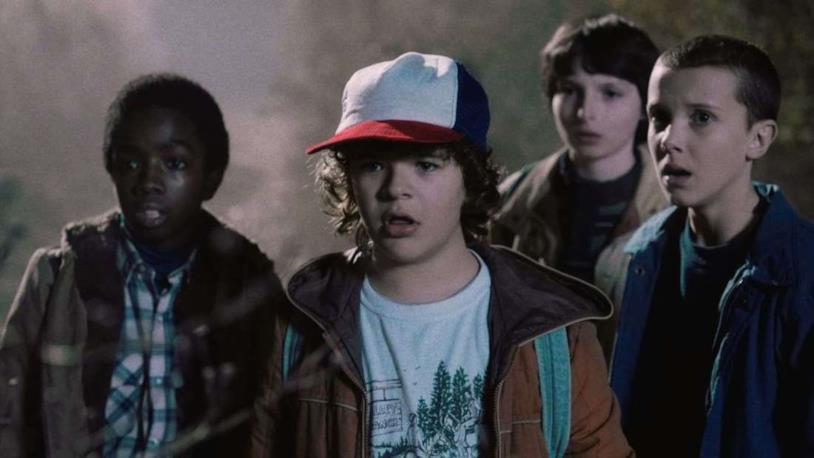 Dustin, Lucas, Undici e Michael di Stranger Things