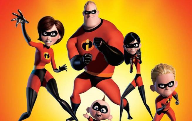 La famiglia Parr in veste di supereroi ne Gli Incredibili 2