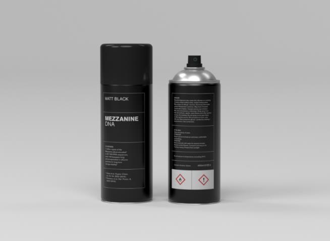 La bomboletta spray contente il DNA dell'album Mezzanine dei Massive Attack