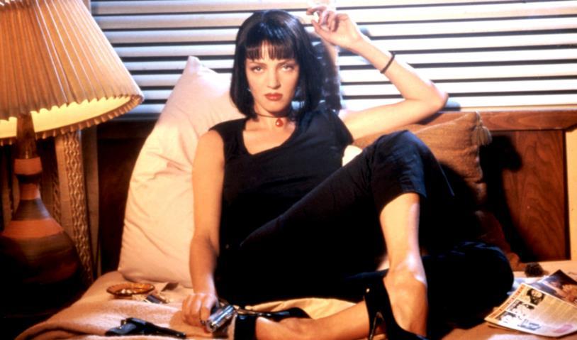 Mia Wallace in una scena di Pulp Fiction