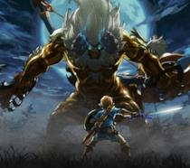 Link sfida un Guardiano in The Legend of Zelda: Breath of the Wild