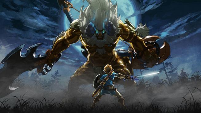 Link sfida un Guardiano in The Legend of Zelda: Breath of the Wild