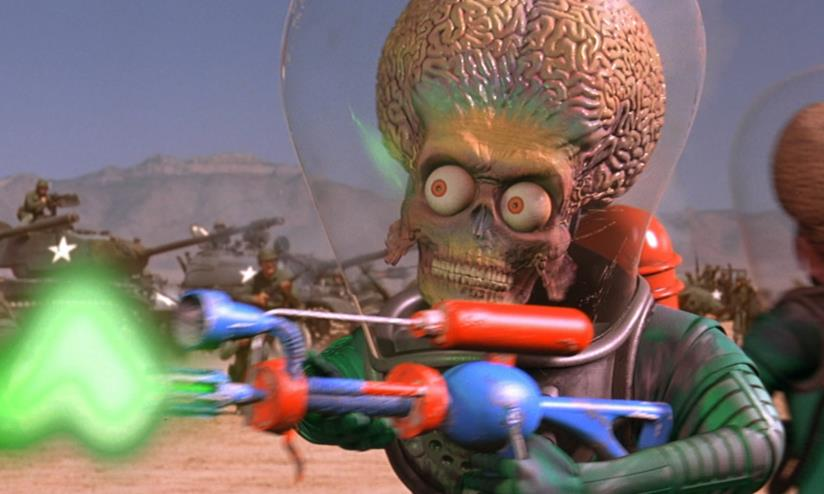 Uno dei marziani bellicosi di Mars Attacks!