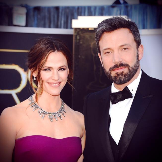 Primo piano di Jennifer Garner e Ben Affleck