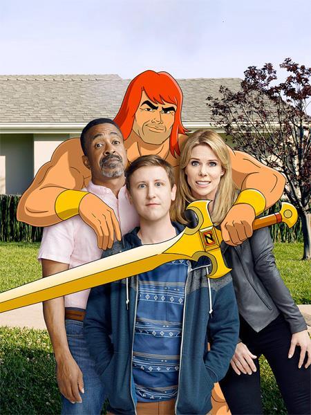 Zorn con l'ex-moglie, il figlio adolescente e il nuovo compagno di lei