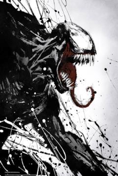 Venom mostra in denti in un poster del film