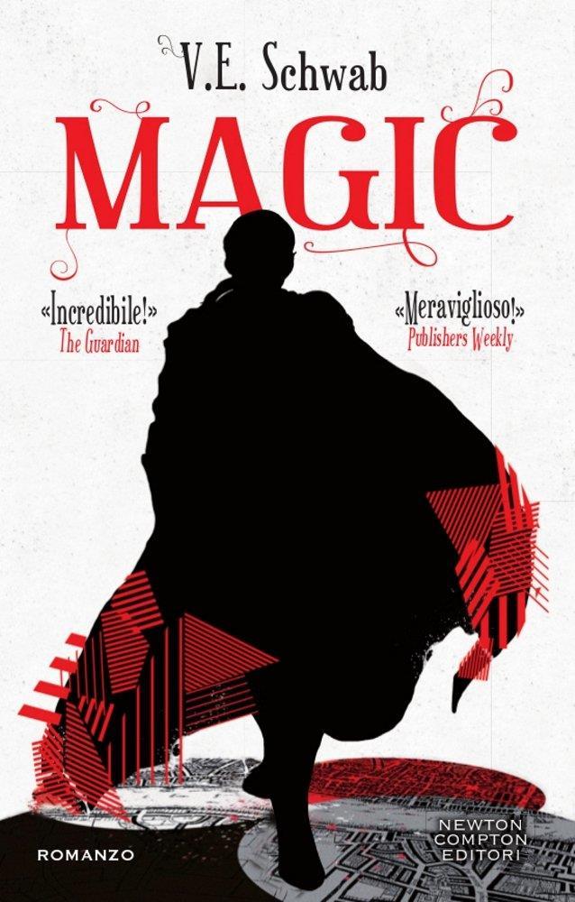 La copertina di Magic con un mago di spalle