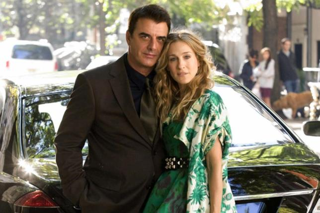 Primo piano di Chris Noth e Sarah Jessica Parker in Sex and The City