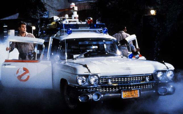 La Ecto-1 nel film Ghostbusters