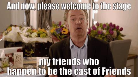 Matthew Perry introduce il cast di Friends durante lo speciale per James Burrows