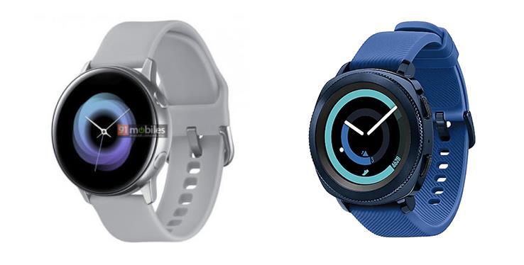 Il Galaxy Sport di fianco al Galaxy Gear Sport di Samsung