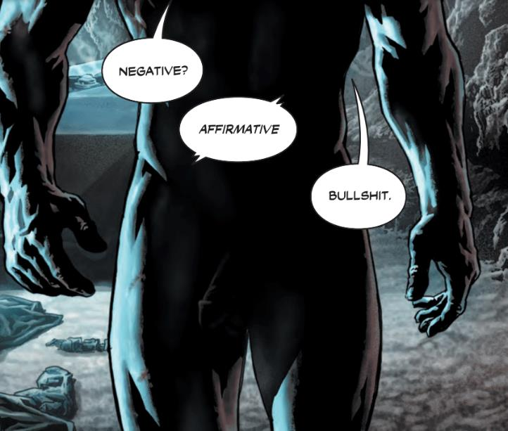 Vignetta di Batman con pene in vista