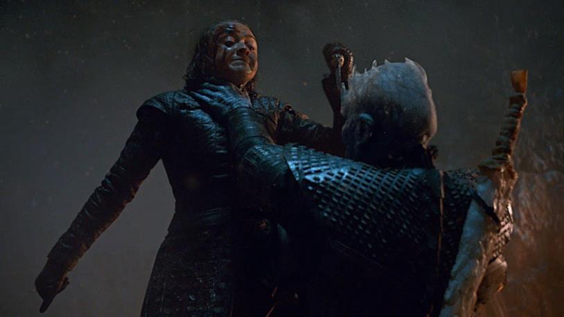 Arya e il Night King nell'episodio 8x03 di Game of Thrones