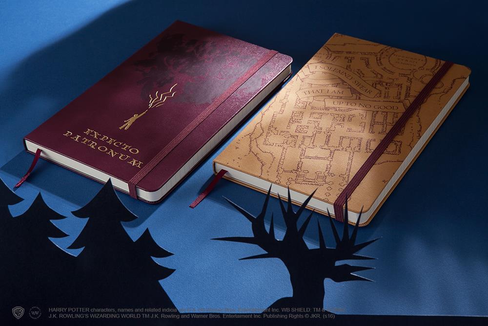 I due taccuini dell'edizione limitata Moleskine su Harry Potter