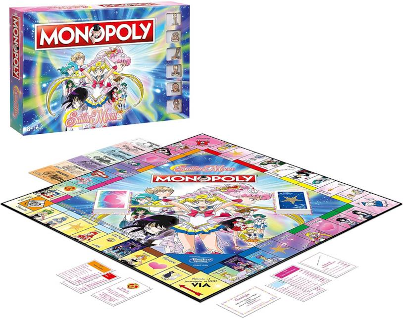 Il tabellone italiano col Monopoly di Sailor Moon