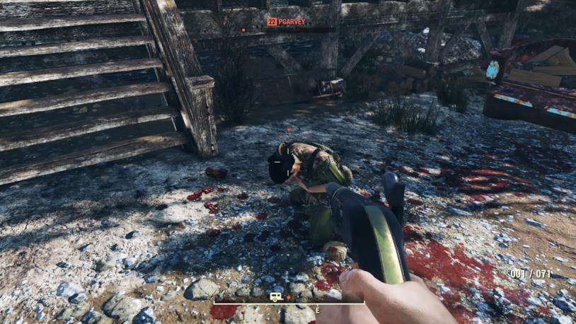 Un'immagine di gameplay da Fallout 76