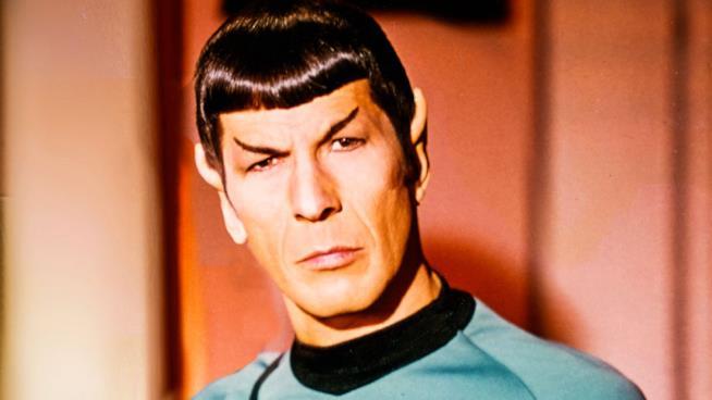 Un primo piano dell'ufficiale scientifico Spock