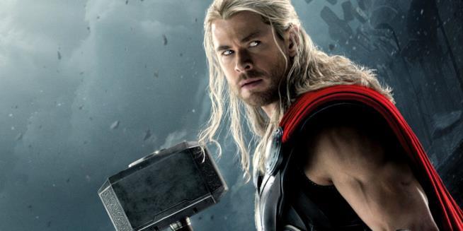 Chris Hemsworth nei panni dell'eroe Marvel Thor