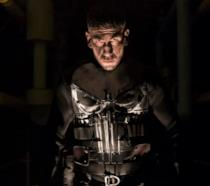 Un primo piano di Jon Bernthal nei panni di The Punisher