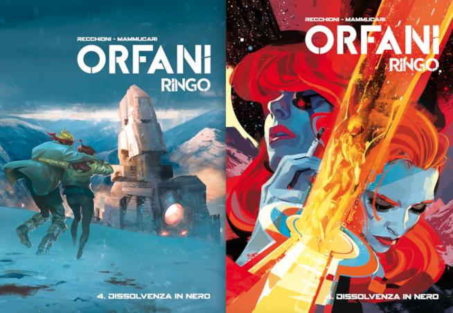 Le copertine regular e variante del quarto volume di Orfani - Ringo