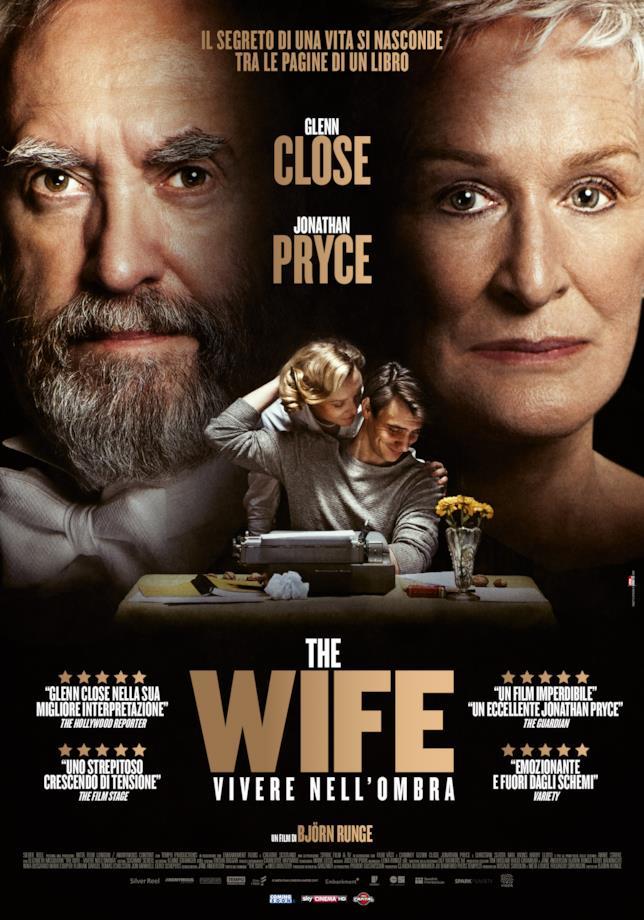 Il poster italiano di The Wife - Vivere nell'ombra