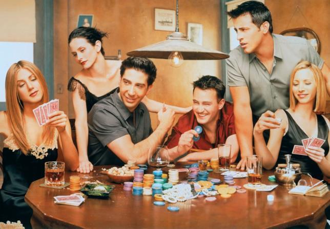 I protagonisti di Friends fanno una partita a Poker