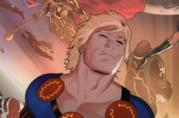 Illustrazione di Ikaris in una pagina dei fumetti Marvel